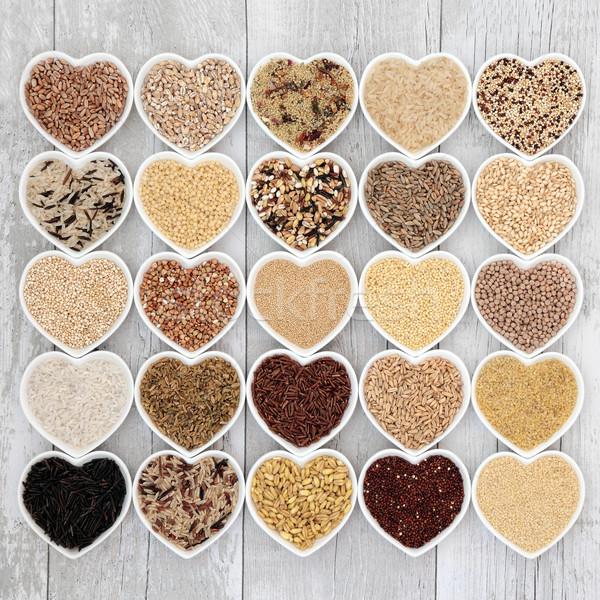 Foto stock: Saudável · grão · comida · coração