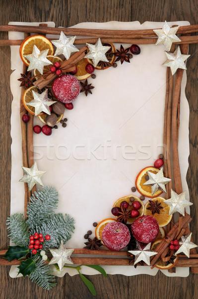 Christmas Festive Border Stock photo © marilyna