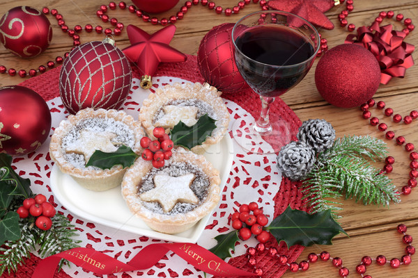 Christmas Mince Pie Cakes Stock photo © marilyna