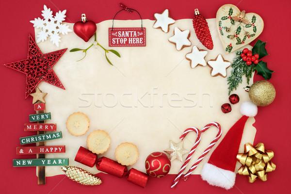 Christmas Decorative Background Border Stock photo © marilyna