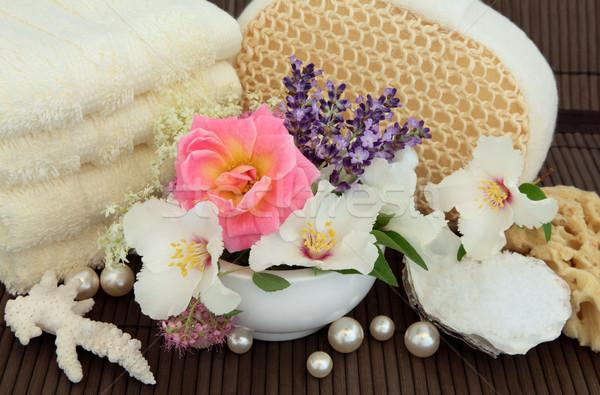 自然の美 治療 バラ オレンジ ラベンダー ハーブ ストックフォト © marilyna