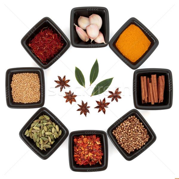 продовольствие трава Spice черный блюд Сток-фото © marilyna