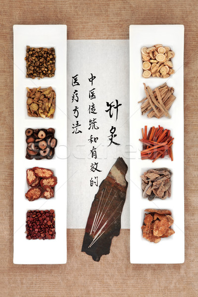 Chinese Herbal Therapy Stock photo © marilyna
