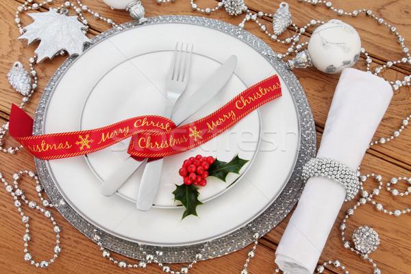 Christmas Table Setting Still Life Stock photo © marilyna