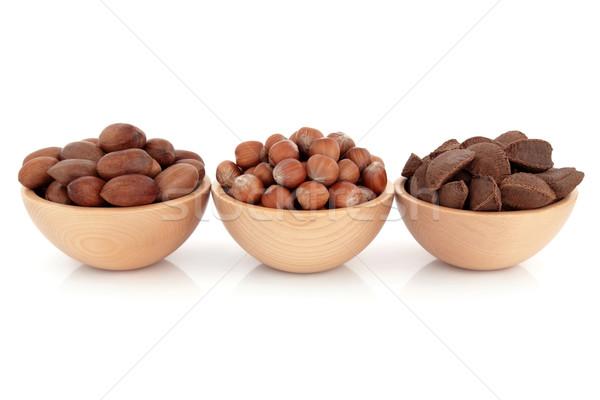 Pecan, Hazelnut and Brazil Nuts Stock photo © marilyna