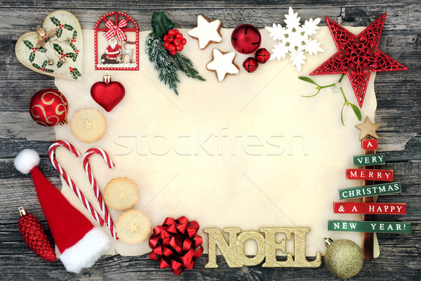 Noel Background Border Stock photo © marilyna