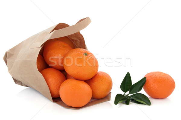 Mandarin Fruit in a Bag Stock photo © marilyna