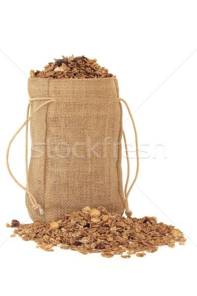 Muesli cereali miscela bag isolato bianco Foto d'archivio © marilyna