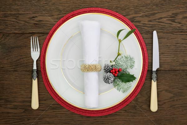 Christmas Table Setting Stock photo © marilyna
