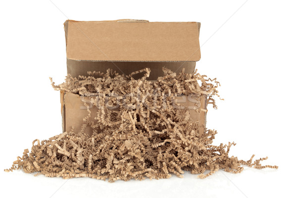Cardboard Box and  Filler Stock photo © marilyna