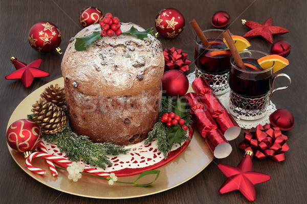 Chocolate Panettone Christmas Cake Stock photo © marilyna