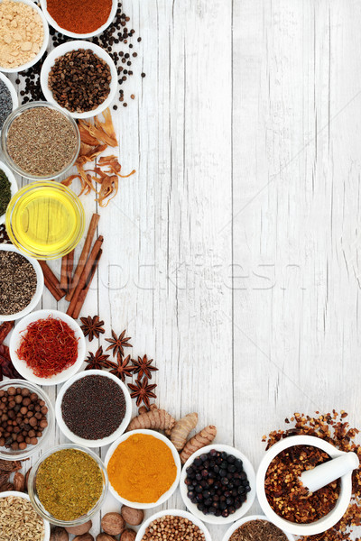 Spice and Herb Abstract Border Stock photo © marilyna