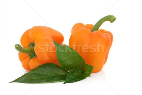оранжевый перец овощей лист весны Сток-фото © marilyna