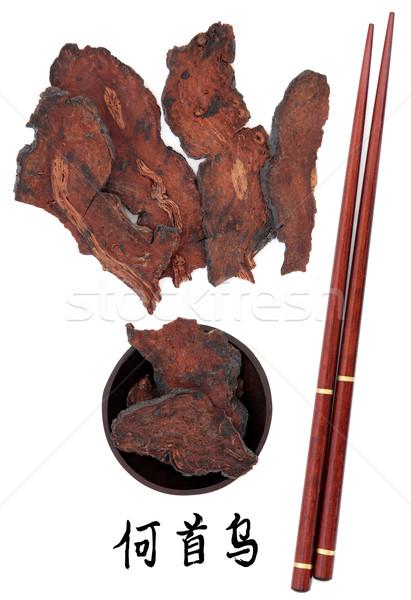 ストックフォト: ルート · 花 · 中国語 · 箸 · マンダリン