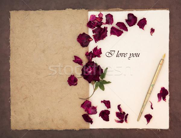 Amore vecchio stile vintage inchiostro pen Foto d'archivio © marilyna