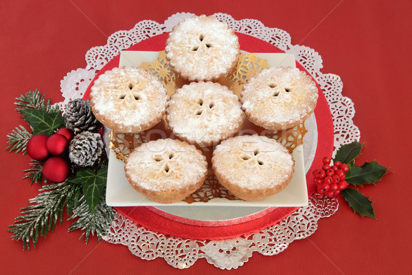 Christmas Mince Pies Stock photo © marilyna