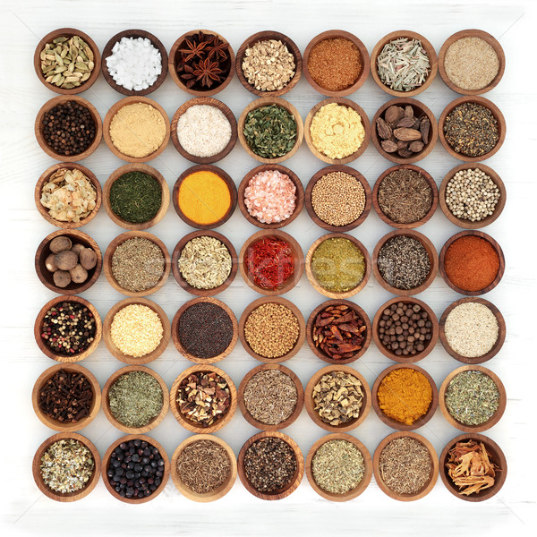 Herb and Spice Seasoning Sampler Stock photo © marilyna