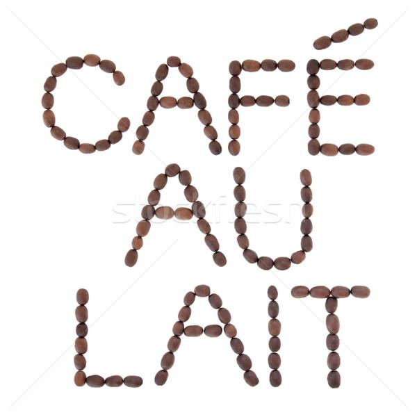 Cafe au Lait Sign Stock photo © marilyna