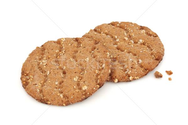 Grano pane biscotti isolato bianco alimentare Foto d'archivio © marilyna