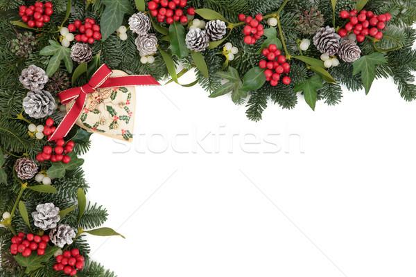 Foto d'archivio: Natale · decorativo · confine · abstract · retro · cuore