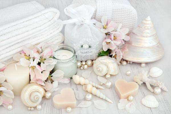 Naturales spa productos manzana flor Foto stock © marilyna