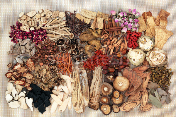Stock photo: Traditional Chinese Herb Selection