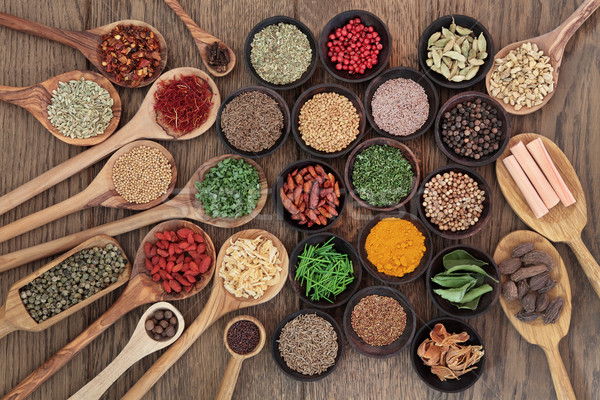 Healthy Herbs and Spices Stock photo © marilyna