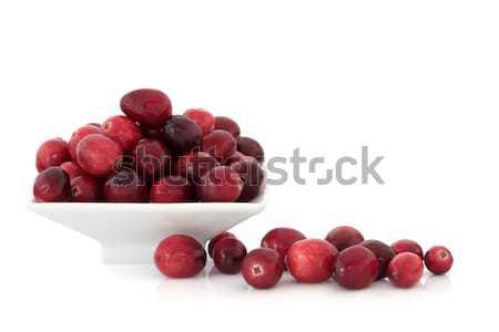 Frutta porcellana piatto isolato Foto d'archivio © marilyna