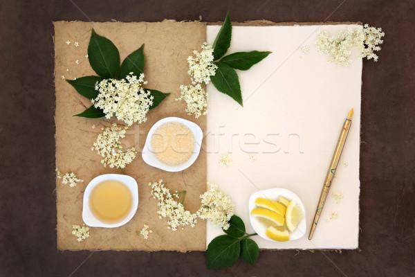 Elderflower Champagne Ingredients Stock photo © marilyna