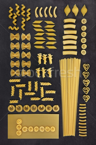 Dried Pasta Abstract Background Stock photo © marilyna