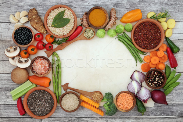 Healthy Diet Food Background Border Stock photo © marilyna