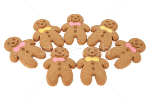 Pan di zenzero cookies cookie rosa giallo arco Foto d'archivio © marilyna