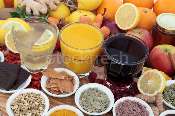 Health Food and Drink Remedies Stock photo © marilyna