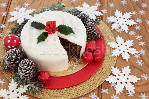 Iced Christmas Cake Still Life Stock photo © marilyna