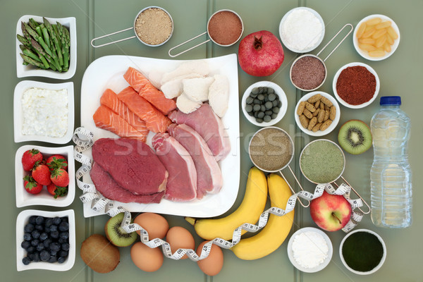 Body Building Health Food Collection Stock photo © marilyna