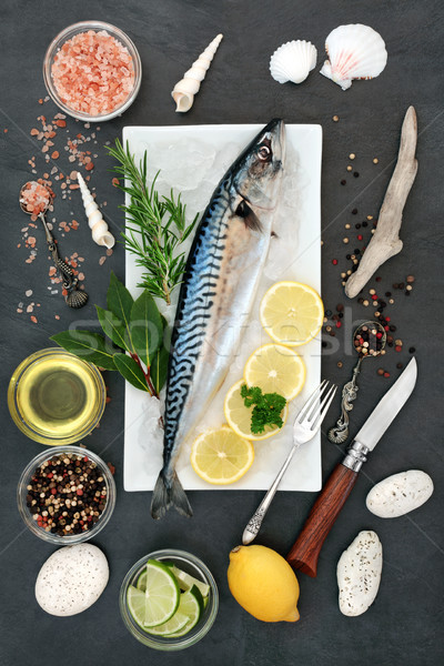 Mackerel Fish for Healthy Eating Stock photo © marilyna