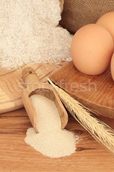 材料 小麦粉 木製 パン ストックフォト © marilyna