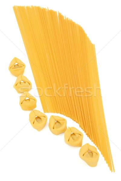 Stock photo: Tortellini and Spaghetti Pasta