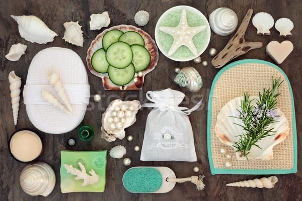 Rozmaring uborka szépségápolás gyógynövény fürdő bőrápolás Stock fotó © marilyna