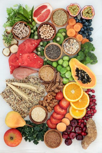 Sağlıklı yüksek lif diyet gıda diyet Stok fotoğraf © marilyna