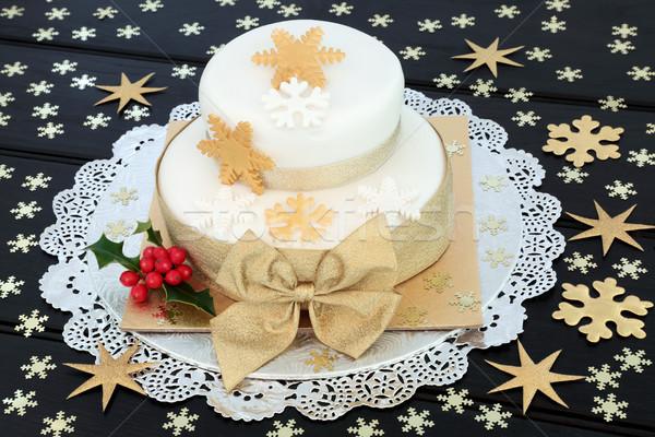 Snowflake Christmas Cake  Stock photo © marilyna