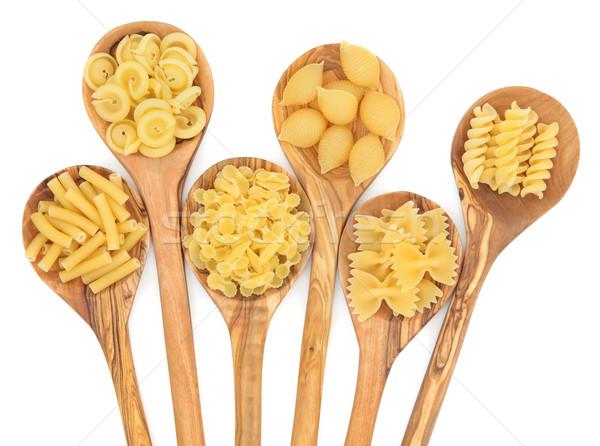 Сток-фото: пасты · макароны · оливкового · древесины · белый
