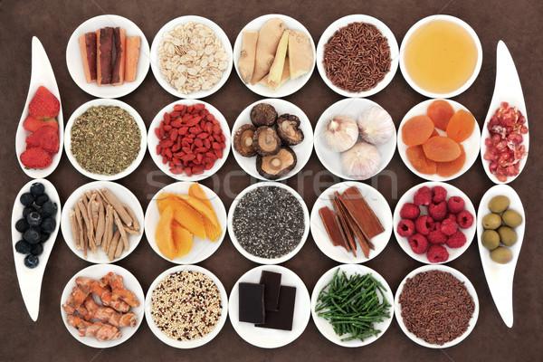 食品 健康 健康 スーパー 食品 白 ストックフォト © marilyna
