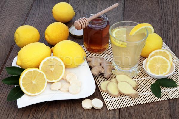 Warme drank koud natuurlijke remedie drinken vitamine c Stockfoto © marilyna