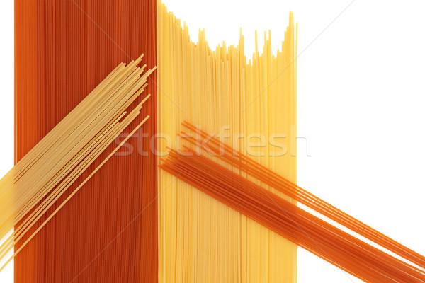 Tomato and Wheat Pasta Abstract Stock photo © marilyna