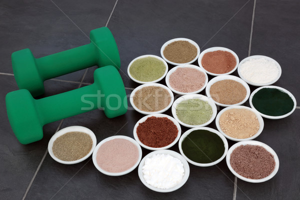 Body Building Supplement Powders  Stock photo © marilyna