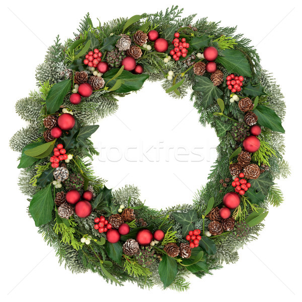 Christmas Wreath Decoration Stock photo © marilyna