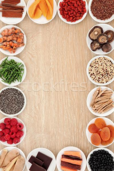 Superfood Border Stock photo © marilyna