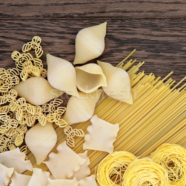 Dried Pasta Abstract Stock photo © marilyna