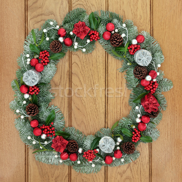 Christmas and Advent Wreath Stock photo © marilyna